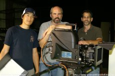 Terence Chu, Eric Adkins and Paul Gugliemo with the Dalsa Origin