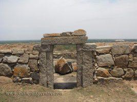 Exit door leading to Iruve Brahmadeva Temple. Chandragiri Hillock, Shravanabelagola.