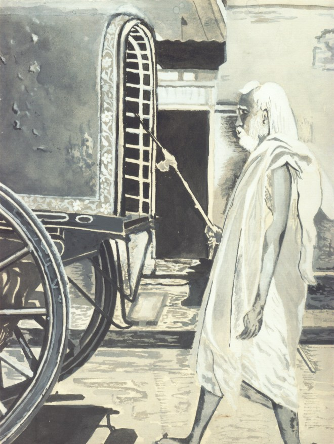 Periyava_Walking_BN_Drawing