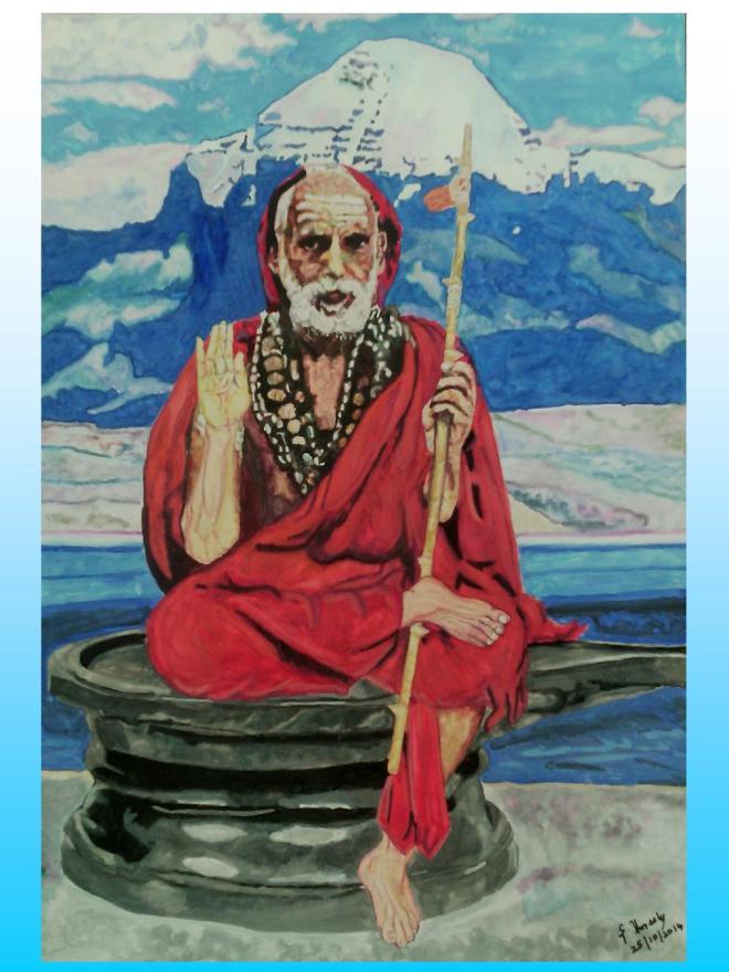 44 Mahaperiyava as Lingam in Kailash 25102014