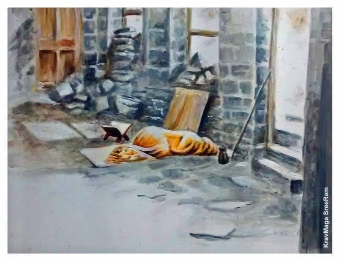 periyava_vishranthi_painting_Sreeram