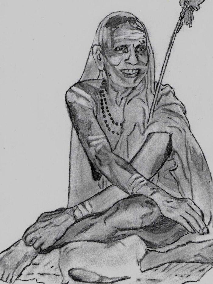 Periyava_sitting_smiling_sketch_Jayakumar.jpg