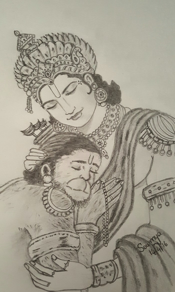 Sri Rama and Hanuman