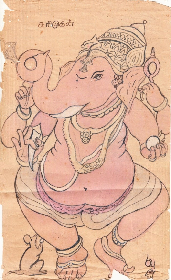 Vinayaka--my first W.C painting