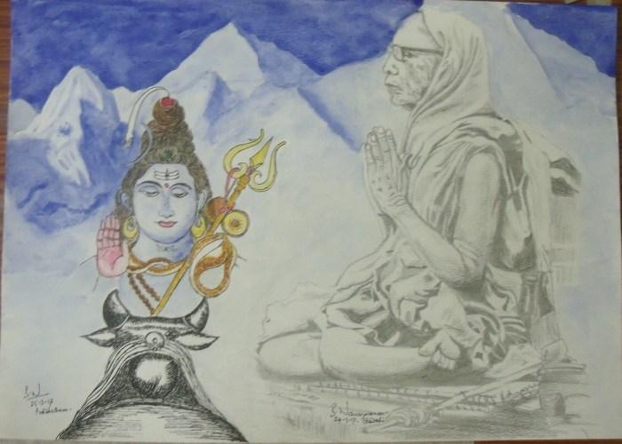 MahaPeriava Pradosham Drawing - BN.jpg