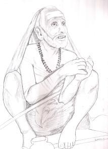 Periyava_sitting_drawing_sudhan