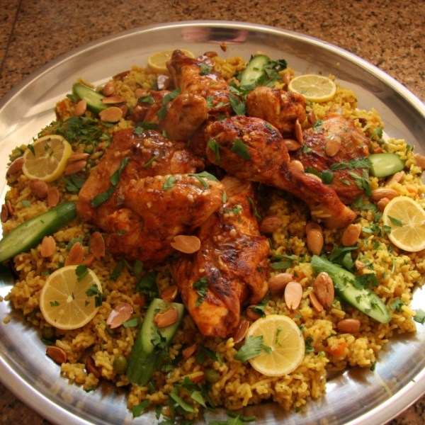 Ouzi rice with chicken