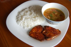 Salathiya rice with fish