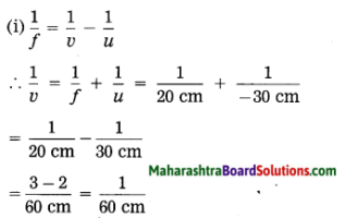 Maharashtra Board Class 10 Science Solutions Part 1 Chapter 7 Lenses 62