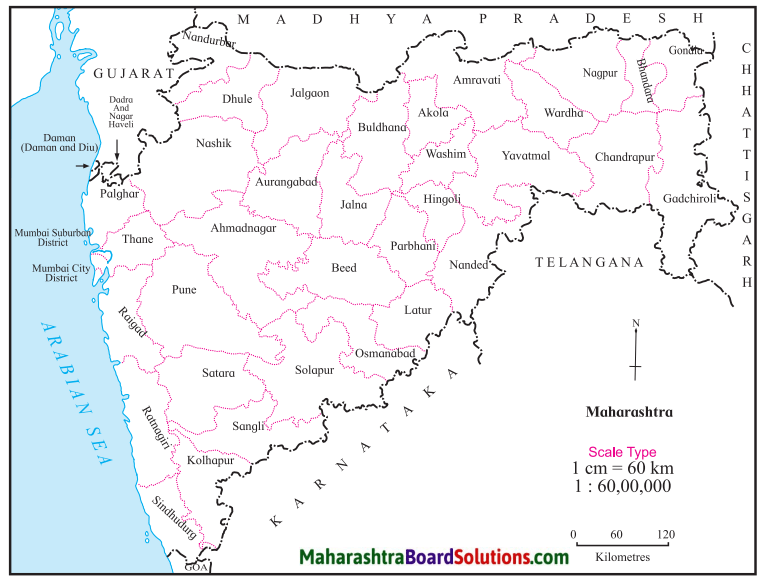 Maharashtra Board Class 8 Geography Solutions Chapter 9 Map Scale 6