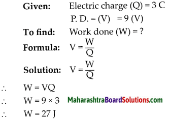 Maharashtra Board Class 9 Science Solutions Chapter 3 Current Electricity 5