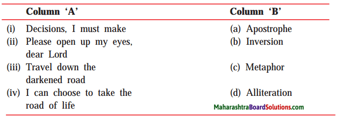 Maharashtra Board Class 10 My English Coursebook Solutions Chapter 1.1 A Teenager's Prayer 1