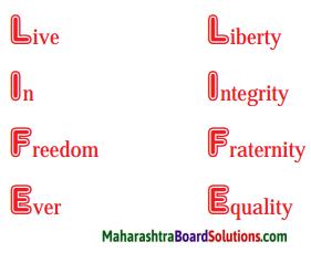 Maharashtra Board Class 9 English Kumarbharati Solutions Chapter 1.1 Life