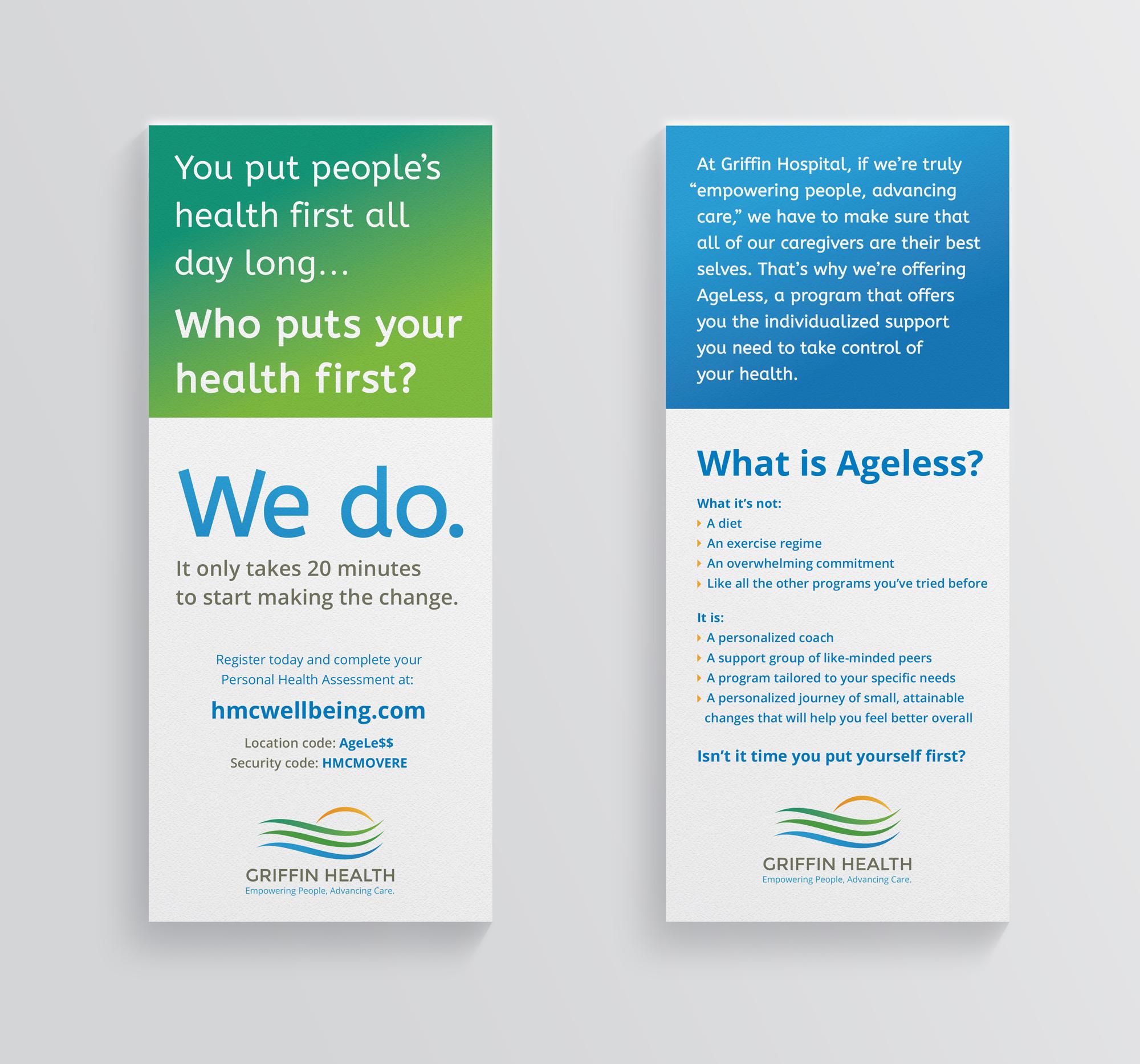 Employee Wellness Campaign Rackcard