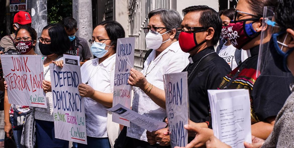 Priests, nuns, lawyers, peace advocates file 18th petition vs Anti-Terror Law