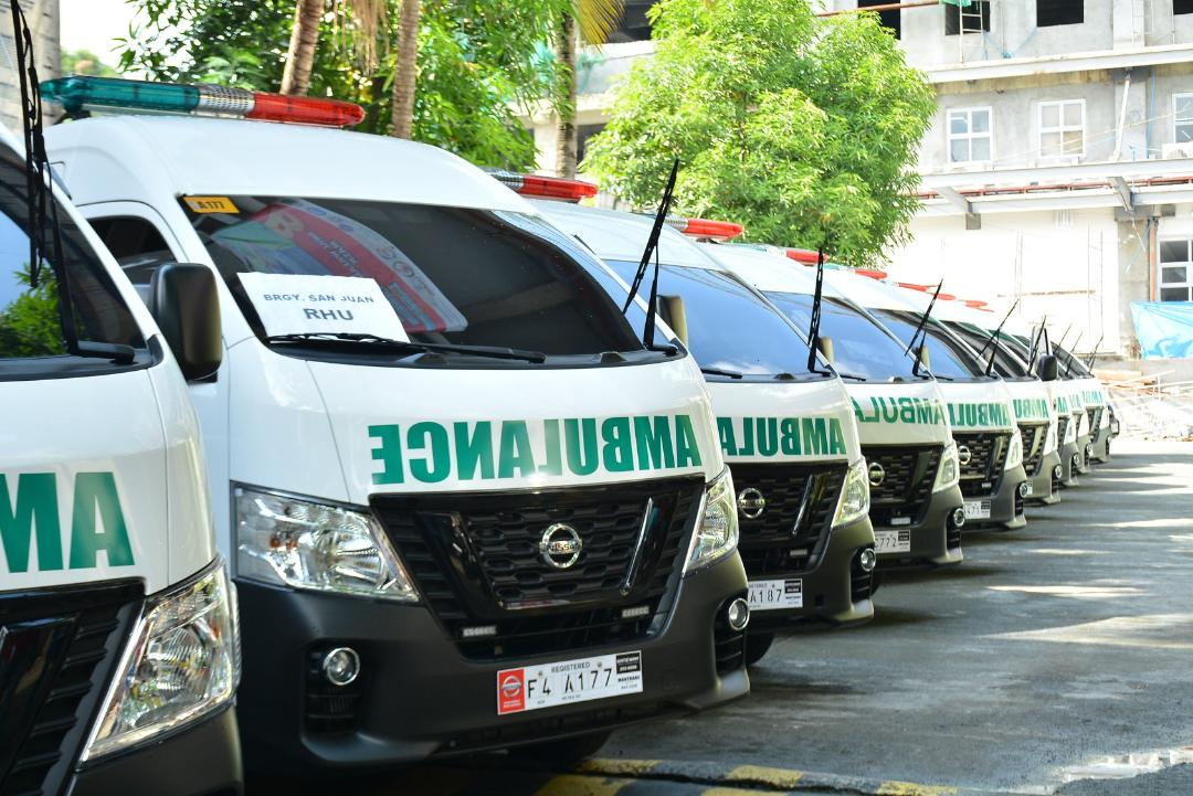 DOH-Calabarzon doles out 16 ambulance vehicles in the region