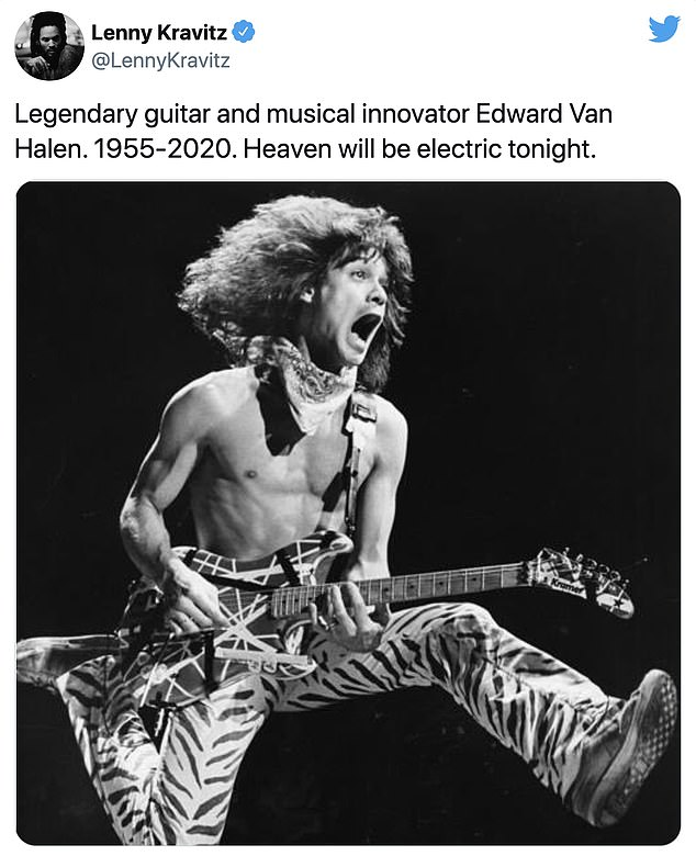 'Guitar God and beautiful soul': Eddie Van Halen remembered by musical peers from Aerosmith, Kiss and Motley Crue following his death at 65 from cancer