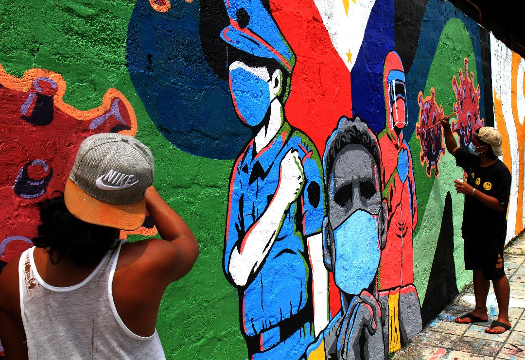 Makati wall artists dedicate work to Covid-19 front-liners