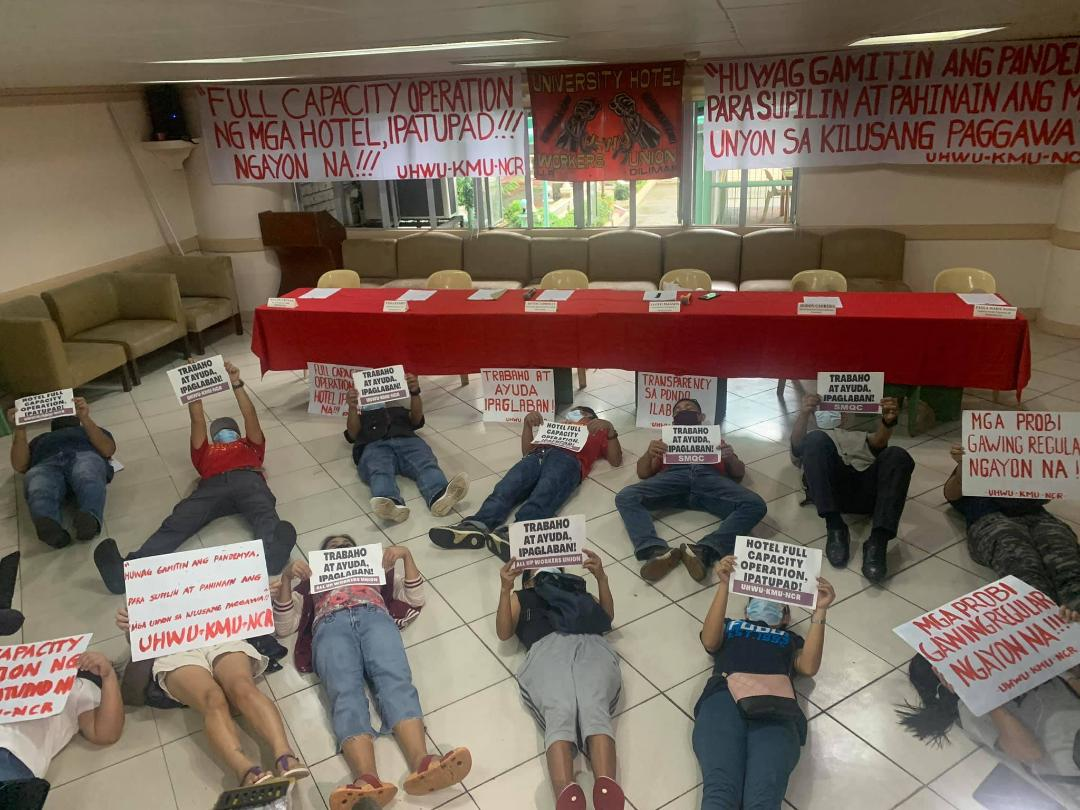 UHWU, Defend Jobs PH stage die-in protest