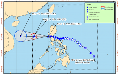 'Ulysses' now over West Philippine Sea; maintains strength