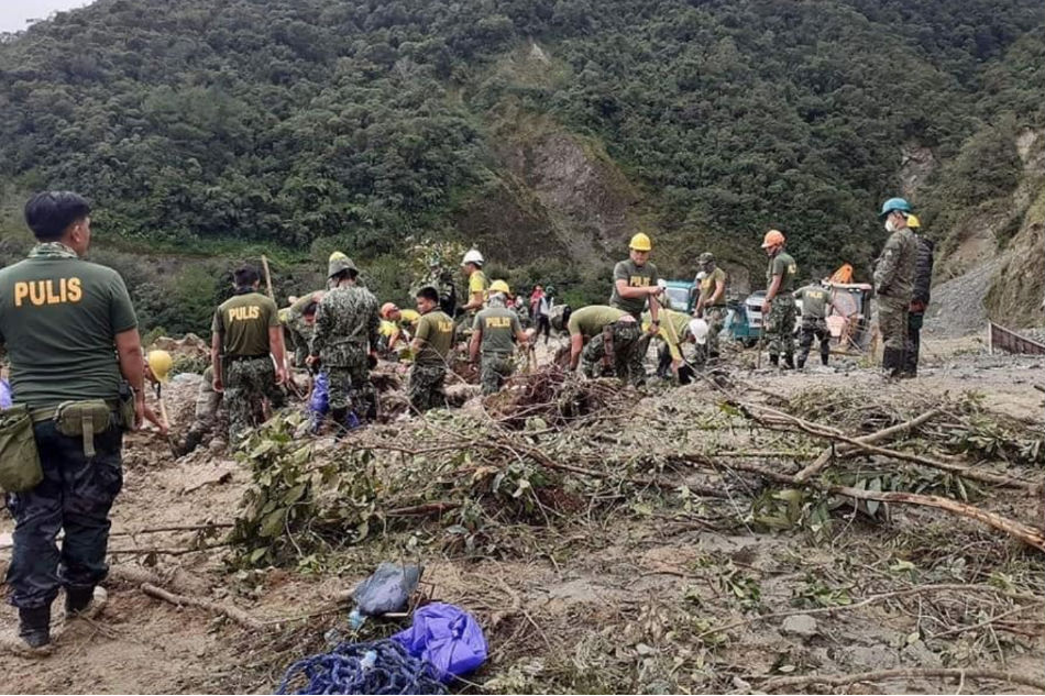2 DPWH personnel conducting clearing ops in Ifugao, killed in landslide; 2 more missing