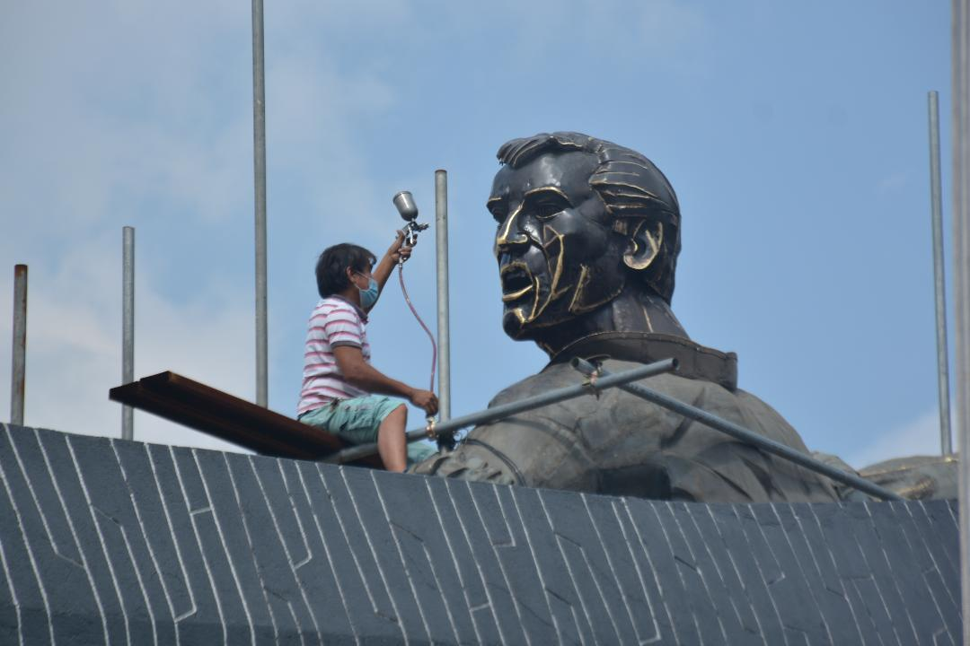 Gat. Andres Bonifacio monument gets a much-needed facelift