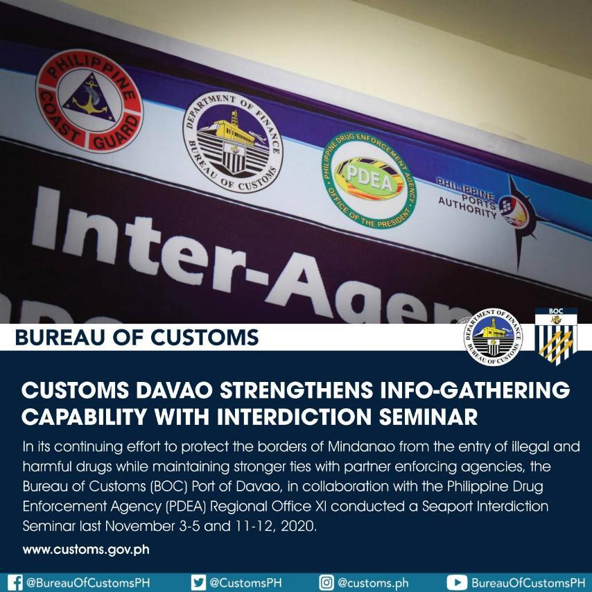 Customs Davao reinforces info-gathering capability