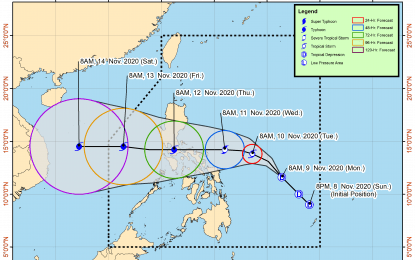 'Ulysses' accelerates, threatens Southern Luzon