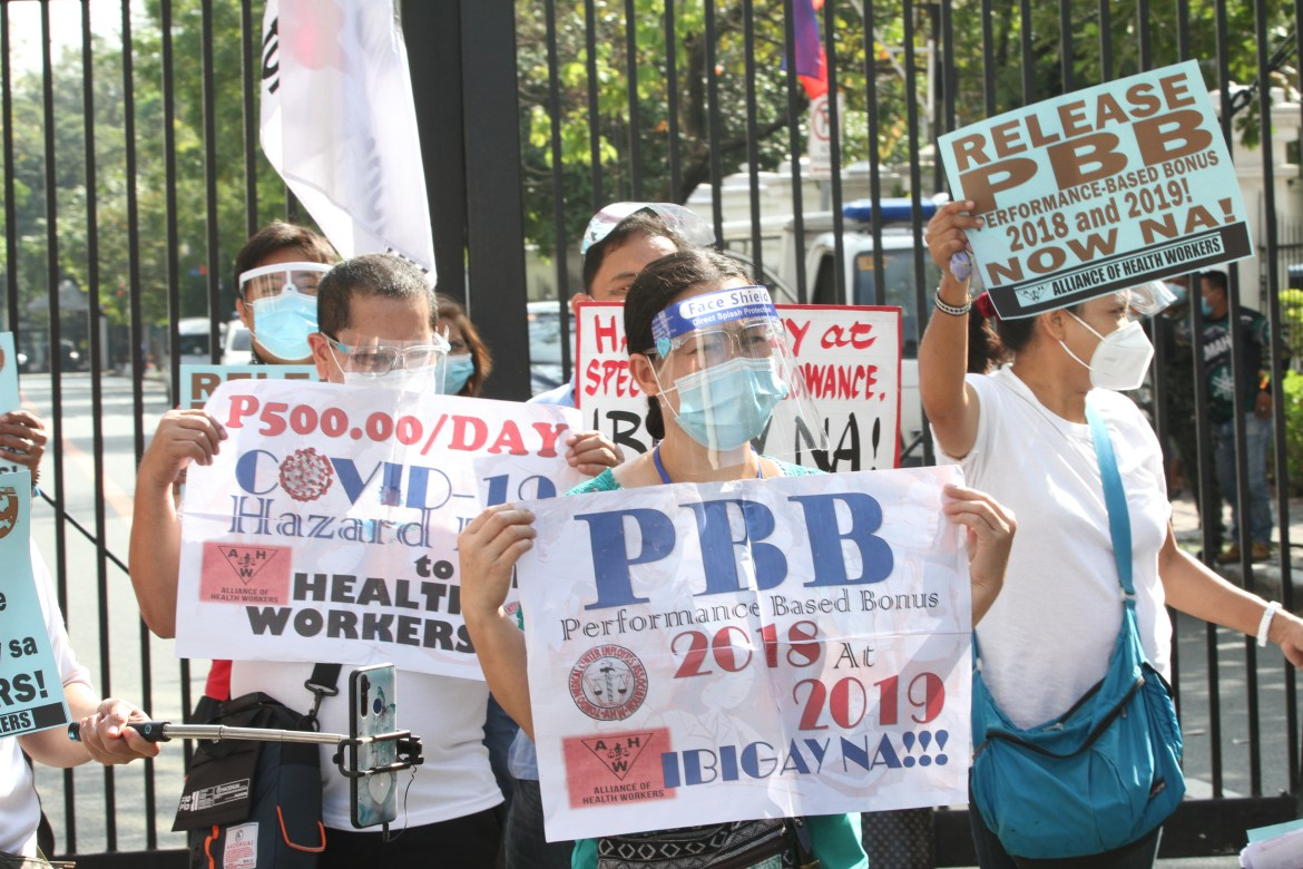 Health workers ask DBM to release hazard pay and special risk allowance