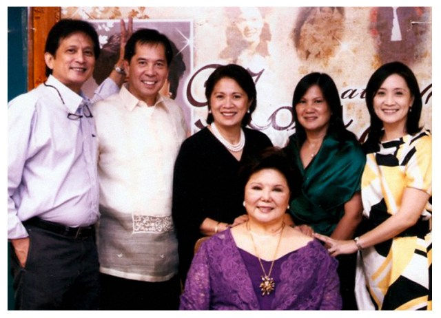 Inspirations. Philippine cooking icon Nora Daza with her children.