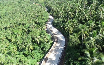 3rd phase of P187-M access road in Biliran nears completion