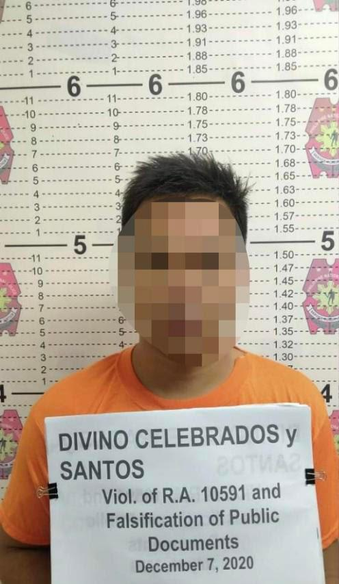 Driver arrested for illegal possession of firearm