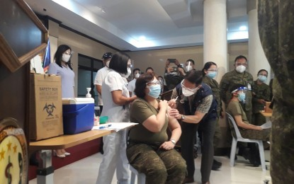 Over 5K military medical front-liners vaccinated so far