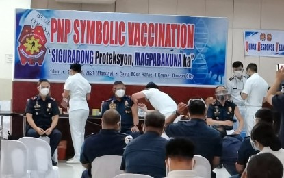 2K front-liners vaccinated as PNP battles surge in Covid-19 cases
