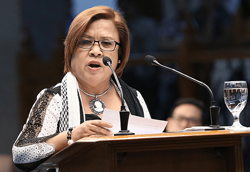 De Lima urges the public: Don't let intimidation prevent you from speaking up for the truth