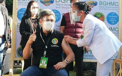 Utility worker, driver among first vaccinees in Cordillera