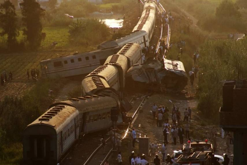 32 killed, 60+ injured as 2 passenger trains collide in southern Egypt