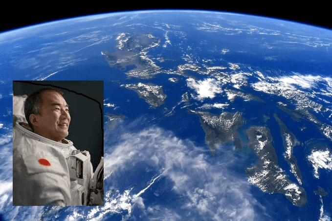 Japanese astronaut snaps photo of PH from outer space