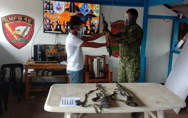 NPA squad leader surrenders in Mountain Province, yields 3 assault rifles