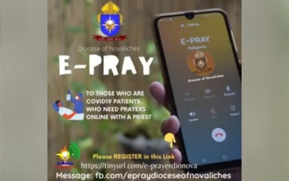 Novaliches diocese launches 'E-pray' for Covid-19 patients