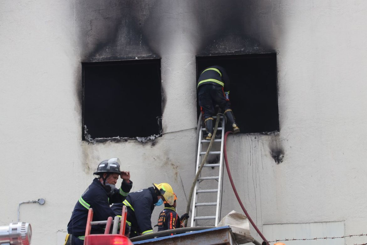 """Firefighters make sure its a """"fire out'"""