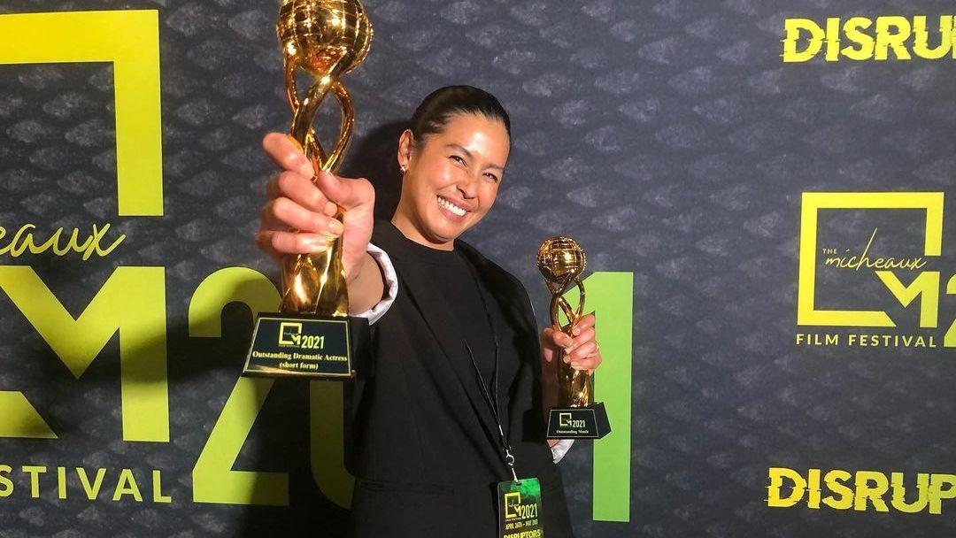Pinay singer-actress Frencheska Farr is Outstanding Dramatic Actress at Micheaux Film Festival