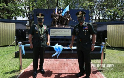 Monument honoring efforts of PH peacekeepers unveiled