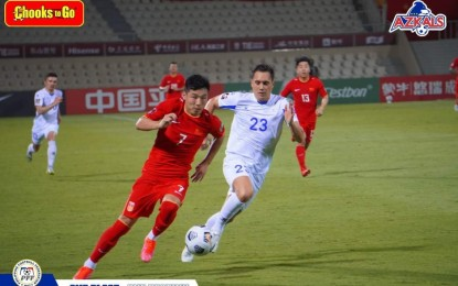Azkals lose match vs. China at World Cup qualifiers in UAE