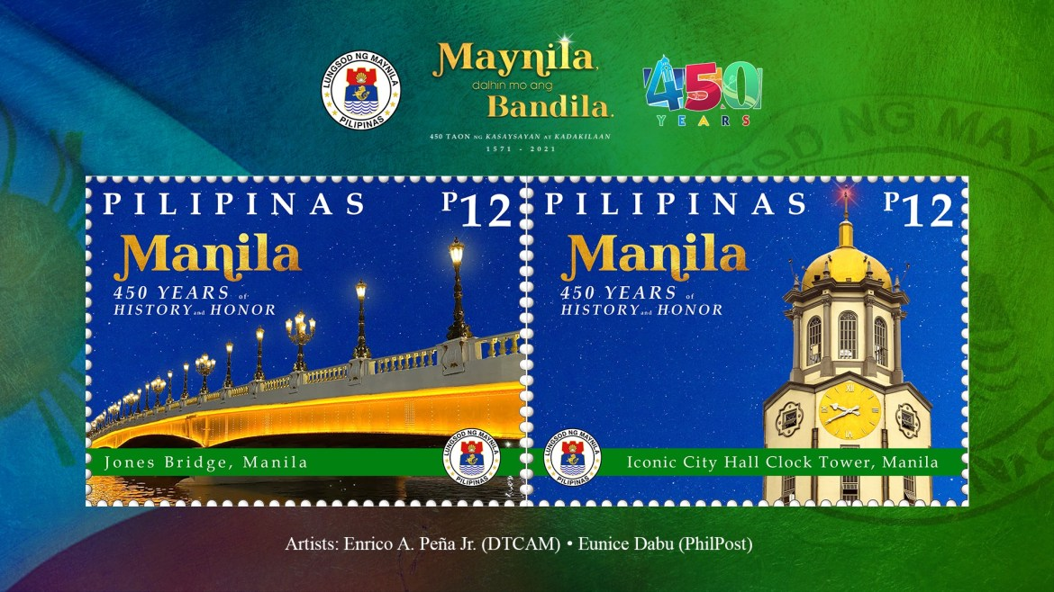 Commemorative stamps for Manila 450th Founding Anniversary unveiled