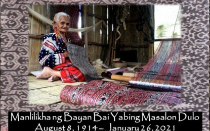 SoCot to unveil marker for late Blaan master weaver