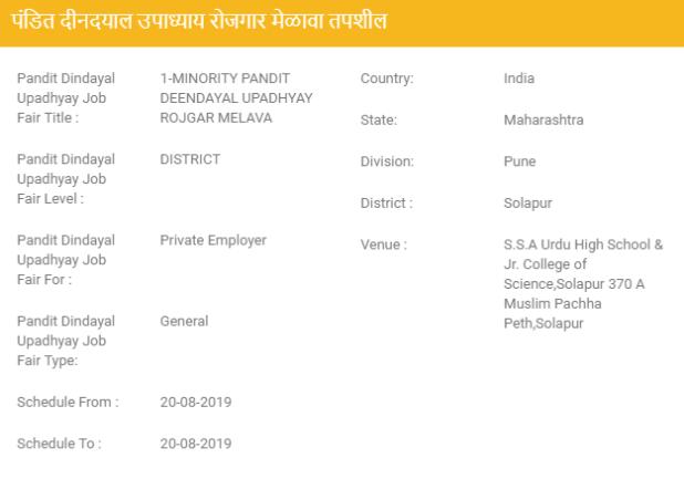 Solapur Job Fairs 2019- Solapur Rozgar Melava 2019