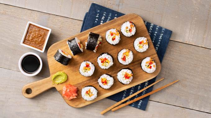 Vegetarian Sushi Rolls Recipe with Sushi Rice | Mahatma® Rice