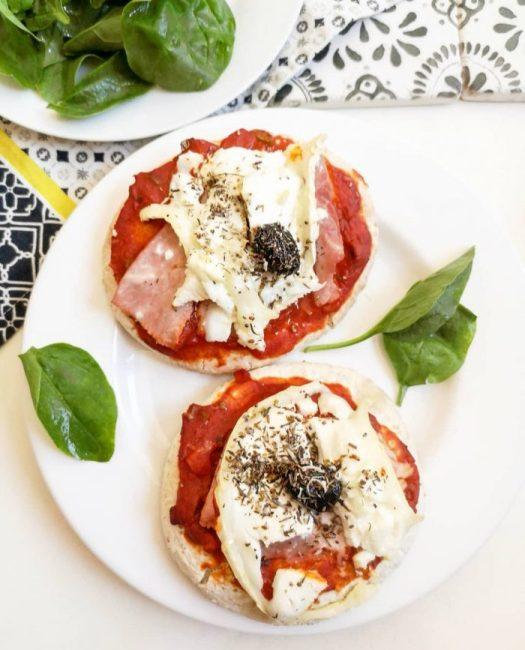 Pizza Pita Recette Rapide et Simple Jambon, Tomate & Chèvre Ma Healthy Tendency