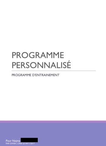 Programme Fitness Personnalisé Musculation Au Féminin - Ma Healthy Tendency